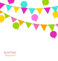 Buntings flags pennants and balloons vector