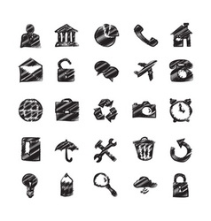 Hand drawn flat icons vector