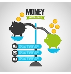 Money infographic vector