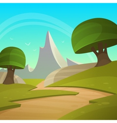 Cartoon fantasy landscape vector