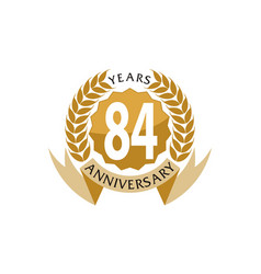 84 years ribbon anniversary vector image