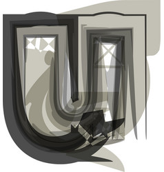 Abstract letter u vector