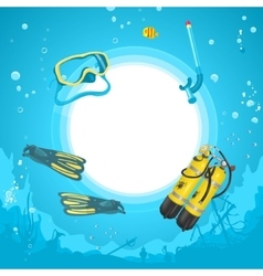 Background Diving vector image