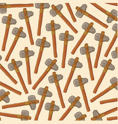 background pattern with ancient stone axes vector image vector image