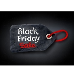 Black friday lettering and plasticine tag banner vector