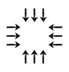 Black grunge arrows vector image
