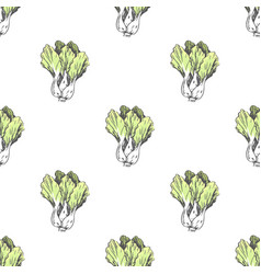 chinese cabbage in endless texture vector image vector image