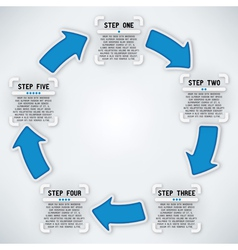 Circular arrows five steps vector