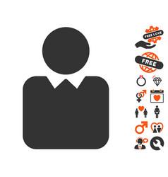 client icon with valentine bonus vector image vector image
