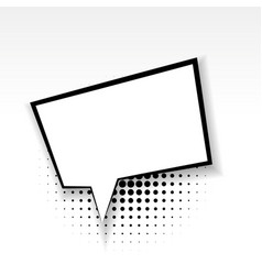 comic empty box paper babble soft shadow vector image vector image