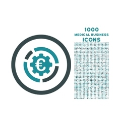 Euro diagram options rounded icon with 1000 bonus vector