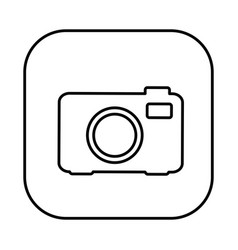 Figure symbol camera icon vector