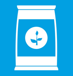 flower seeds in package icon white vector image vector image
