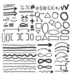 from the hand-drawn labels vector image vector image
