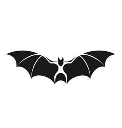 Fruit bat isolated bat on white background vector