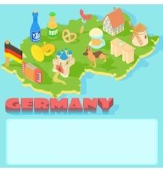 Germany map cartoon style vector