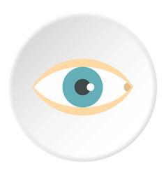 Healthy eye icon circle vector