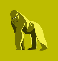 in flat style gorilla vector image vector image