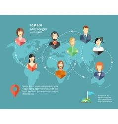 Instant Messenger Concept vector image