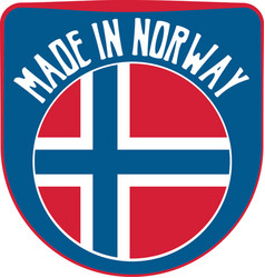 made in norway sign vector image vector image