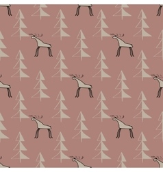 Moose wood ethnic ornament seamless pattern vector