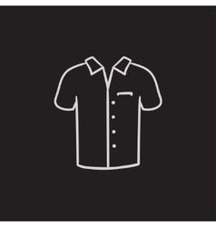 Polo shirt sketch icon vector image