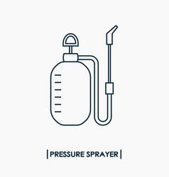 pressure sprayer outline icon garden sprayer vector image vector image