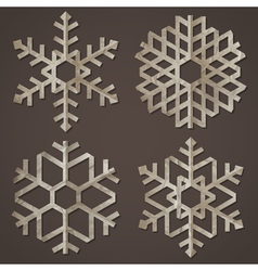 Snowflakes of old paper vector image vector image