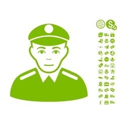 Soldier icon with free bonus vector