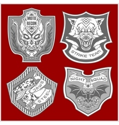 Stickers and patches for bikers vector