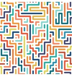 Striped colorful seamless geometric pattern vector
