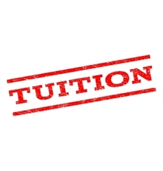 Tuition watermark stamp vector
