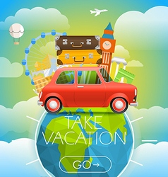 Vacation travelling concept travel with a r vector