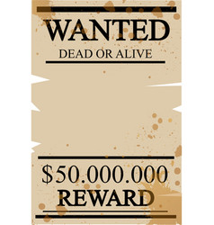 vintage western wanted poster vector image