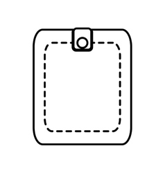 Wallet save money icon line vector