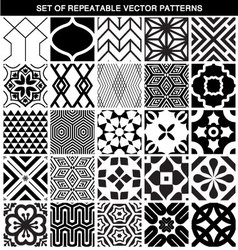 Set of different seamless patterns vector