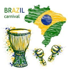 Brazil carnival symbols vector