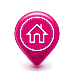 Home location icon vector