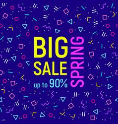 Big sale geometric background memphis style vector