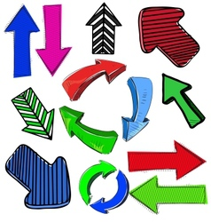 Colorful arrows set vector image