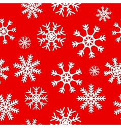 White snowflakes on red background vector
