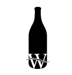 Last drop of wine- logo concept for wine business vector