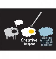 creative happens vector image