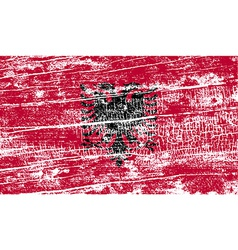 Flag of albania with old texture vector
