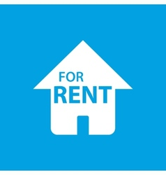 For rent white icon vector