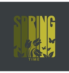 Spring label design background vector