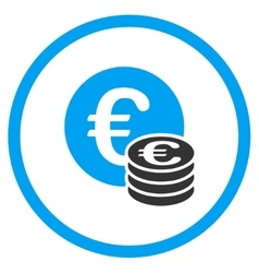 Euro coins cash rounded icon vector