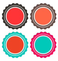 Paper retro circle empty labels set isolated on vector