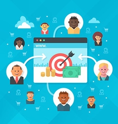 Attracting customers to website vector