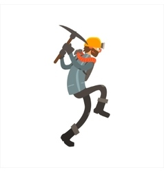 Profession Miner vector image